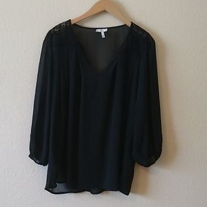 Joie peasant lace top